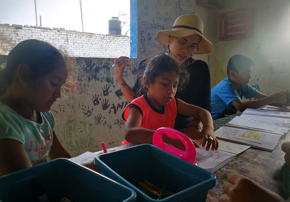 Homework programme by Concrete Jungle Foundation in Peru